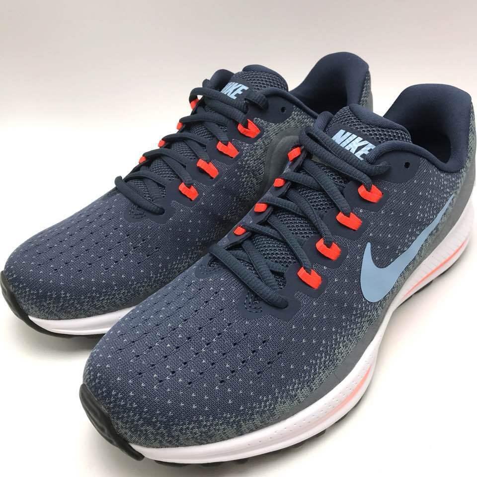 Nike air zoom vomero 13 uomini scarpe da corsa, tuono blu / azzurro 922908-400 cirro.