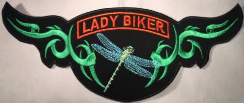 LADY BIKER DRAGONFLY WOMEN NATURE MOTORCYCLE VEST EMBROIDERED PATCH AL-34