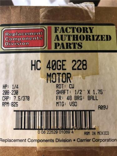 GE//Carrier Motor HC40GE228A 1//4HP