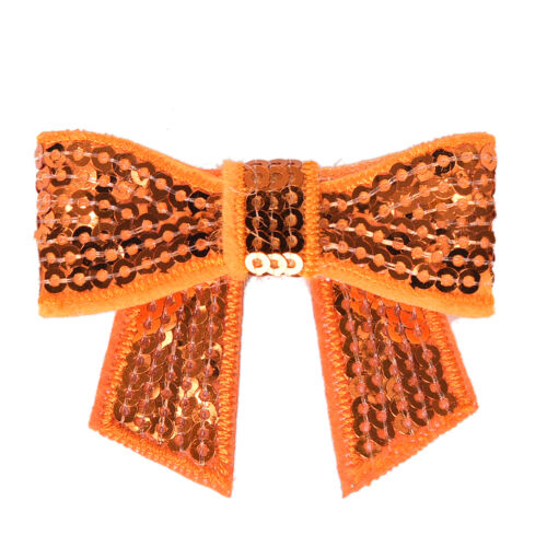 12 Pcs Sequin Bows Knots DIY Applique Accessiories Hairband Cloth Decorations HC