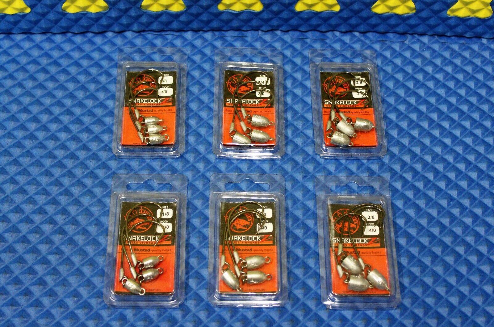 Z-Man Snakelockz Jigheads 3//0 Hooks 3-Pack CHOOSE YOUR WEIGHT