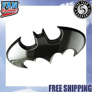 Batman Batwing Logo 3D Car Badge (Black Chrome)