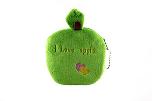 Frauen Nette Früchte Plüsch Mini Geldbörse Reißverschluss Ändern Handtasche Mode