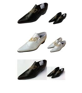Children White Black Slip On Formal Wedding Prom Page Boy Kids Shoes for suits