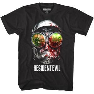 Shirt Schwarz Evil Hunt Gamer Zombie Herren T Gasmask Reflections Resident Capcom UvdSXqv