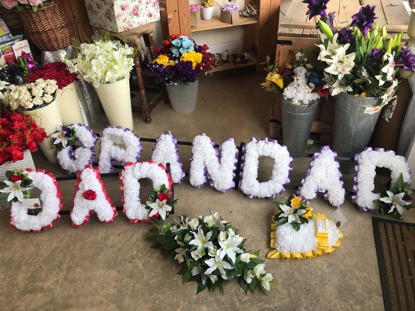 Extra Large Tribute Letters And Stand..Make Any Name..Memorial Funeral Tribute