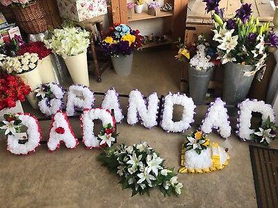 Papa 'pacchetto Seta Artificiale Fiori Funerale Memoriale Grandad Lettere Cuore Spray-mostra Il Titolo Originale