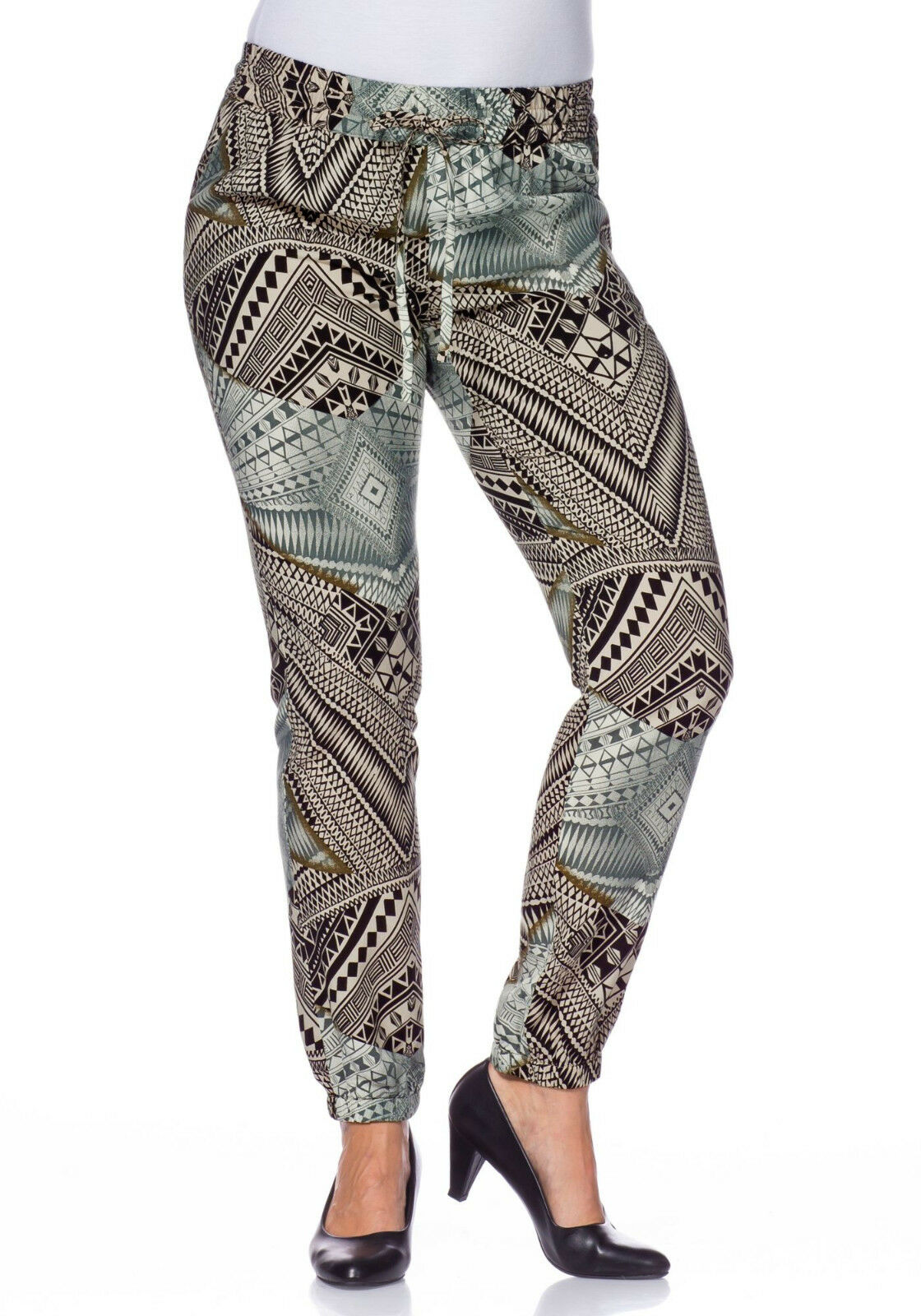 KP 59,99 € SALE/%/%/% taupe Lang-Gr NEU!! sheego Style Modische Hose