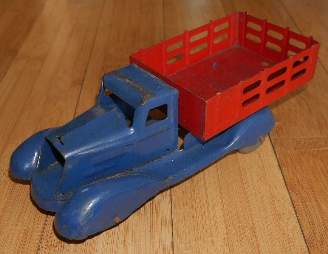 Marx Toys Pressed Steel Toy camion C. années 1930 vintage rare grande (138)