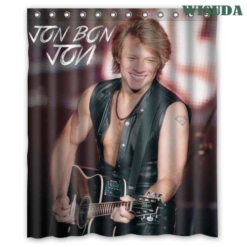 Jon Bon Jovi American Singer Custom Polyester Shower Curtains 60x72 Inch