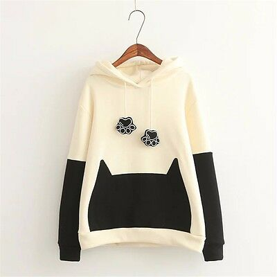 Lolita Cute Cat Claw Sweatshirt Casual Sports Preppy Style Long Sleeves Hoodie