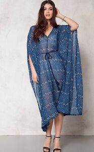 db1fc8673a WOMENS DRESS BEACH COVER UP TUNIC CHIFFON KAFTAN PLUS BOHO CHIC ...