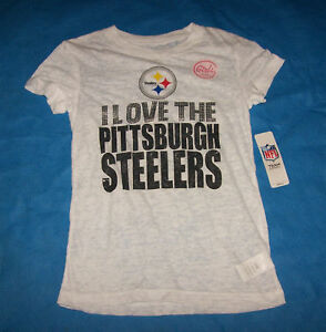Size L (1416) Girls Pittsburgh Steelers Shirt NFL Team Apparel