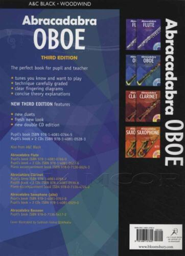 Abracadabra Oboe 3rd Edition Sheet Music Book Learn How To Play Method