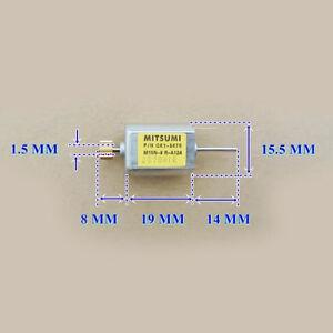 5x Miniature 030 Motor DC12V Biaxial Dual Shaft Carbon Brush Motor 13100rpm