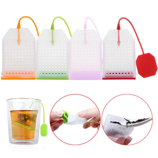 Silicone Loose Tea Bag Tea Infuser Leaf Strainer Herbal Spice Filter Diffuser