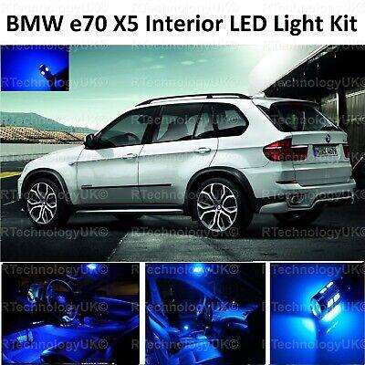 BMW X5 E70 BRIGHT COOL WHITE INTERIOR LED LIGHT BULBS ERROR FREE UPGRADE SET
