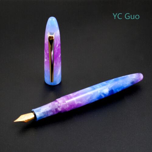 Admok Deluxe Extra Fine Nib Fountain Pen Imported Resin German Nib Voilet