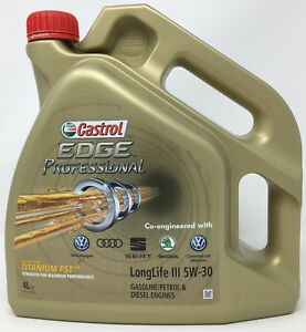 aceite castrol edge professional ll iii titanium fst longlife 3 5w 30 4 l ebay. Black Bedroom Furniture Sets. Home Design Ideas
