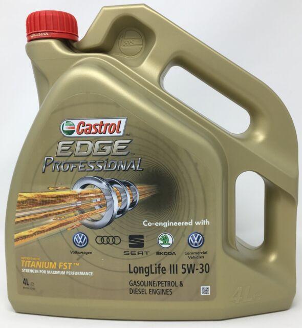 Aceite Castrol EDGE Professional LL III Titanium FST Longlife 3 5W-30, 4 L