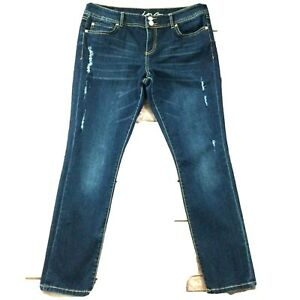 Inc-Womens-Jeans-size-8-new-Dark-Wash-Straight-Leg-Ankle-x29-034-in-Cotton-Stretch