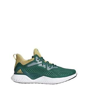 online store 372ac 3a724 Image is loading adidas-Alphabounce-Beyond-NCAA-Green-amp-Sand-Running-