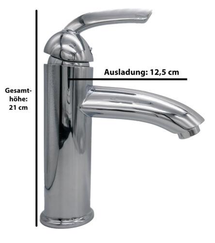 Design Waschtischarmatur Armatur Waschbecken groß und hoch Chrom glänzend