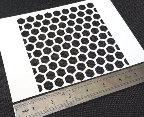 Hexagon Honeycomb Pattern Texture Airbrush Stencil Reusable Mylar Craft Paint