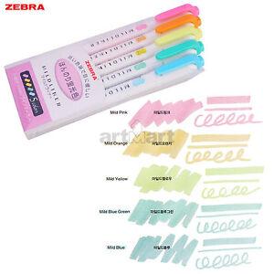 ZEBRA MILDLINER Highlighter Marker Pen 5 Colors Set WKT7-5C