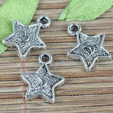 40pcs tibetan silver color lucky leaf design charms EF2363