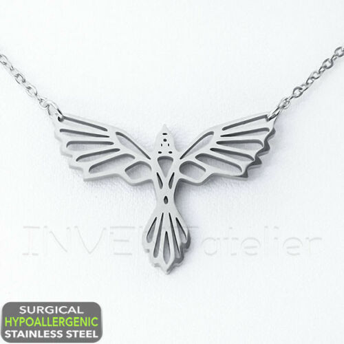 "Surgical Stainless Steel EAGLE NECKLACE 18/"" Hypoallergenic Chain"