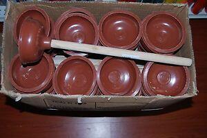 Lot Of 12pc Heavy Duty Toilet Plunger Plumbers Helper Free Shipping