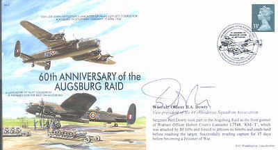 MF2c WW2 WWII Lancaster Nettleton VC RAF cover signed RODLEY DFC