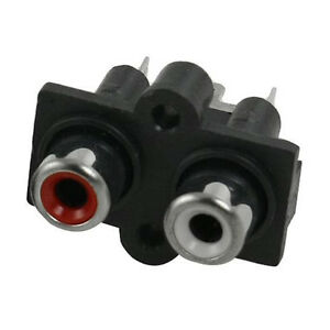 5-Pcs-2-RCA-Female-Outlet-AV-Concentric-Socket-Connector-AD