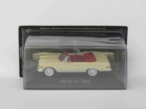 DE AGOSTINI 1:43 #75 DIE-CAST CAR AUTO MERCEDES BENZ 280 SE 3.5 1969