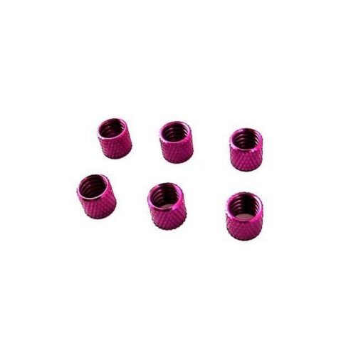 Hot Racing OF0207 Purple Aluminum Fuel Line Retainers (6)