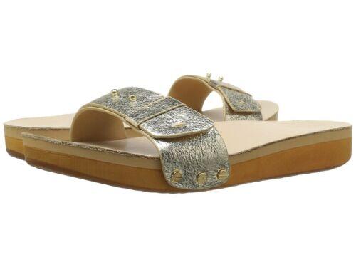Cape Cod Shoe Supply Co Josie Gold Sandels Slip On Shoes Sz 6