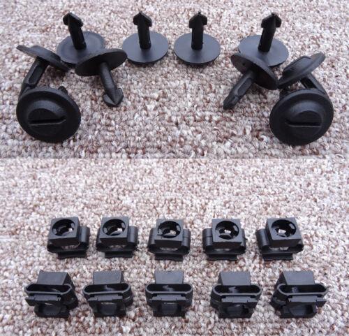 Motor Bajo Bandeja clips de fijación abrazadera de protección eingine Fiat Coches Conjunto de 10