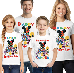 NEW Personalized Custom Mickey Mouse clubhouse birthday t ...