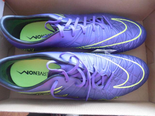 Nike Hypervenom Phatal II FG Men's Soccer Hyper Grape/Volt-Black-Black SZ 10.5