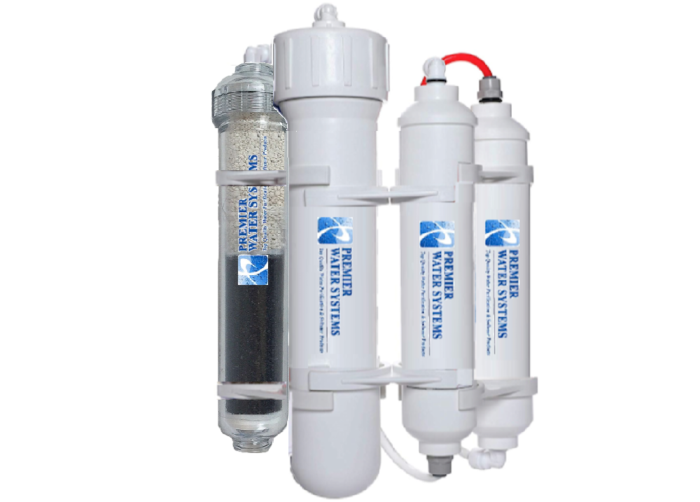 Portable Alkaline Reverse Osmosis RO Water Filtration System pH Neutral 75 GPD