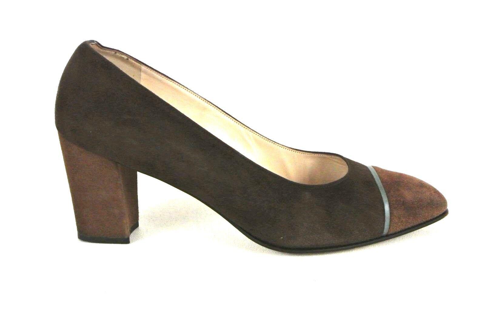 Bellezza Bally Heels Brown Suede Pumps EU 6 US 8.5 Made In Switzerland 1008