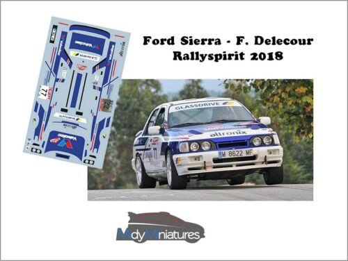 Décals 1//43ème F Rallyspirit 2018 Ford Sierra Cosworth Delecour