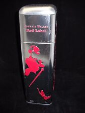 Johnnie Walker Red Label Tin Bottle Case Silver Tone (NO ALCOHOL)