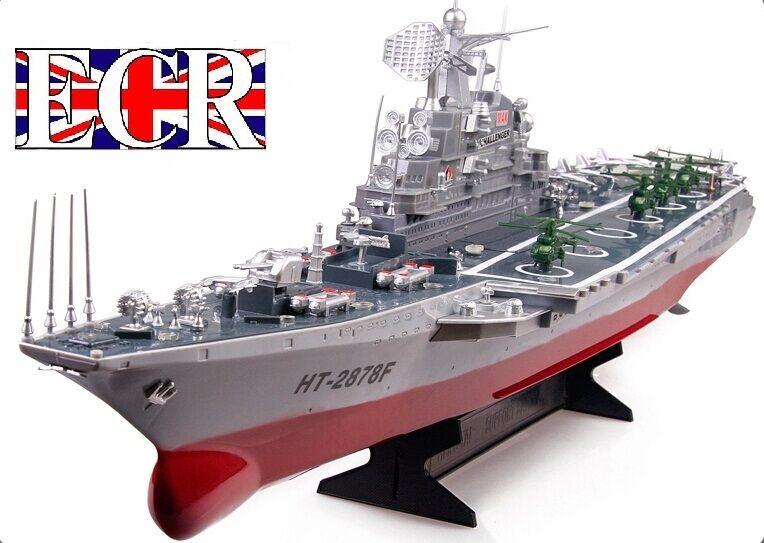 RC Radio Telecouomodo Blu Navy Portaerei Nave Barca Ideale per  Barca Laghi  garanzia di qualità