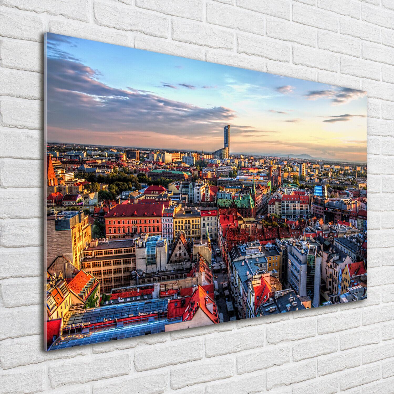 Wandbild aus Plexiglas® Druck auf Acryl 100x70 Panorama von Breslau