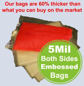 5Mil 300 Quart Gallon Bag FoodSealer Food Saver Weston Vacuum Sealer Bags Roll