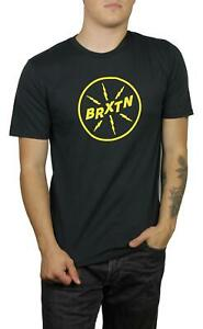 Brixton-Mens-Adapter-II-Premium-Short-Sleeve-T-Shirt-Washed-Black-M-New