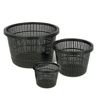 Pond Plastic Plant Baskets - ROUND Planting Pots Garden Lily Margins 3,6 or 12