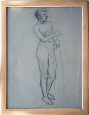 Fritz Wimmer 1879-1960 Neuburg/Inn, Frauenakt 1930/35 Kohle 61 x 46 cm + Buch